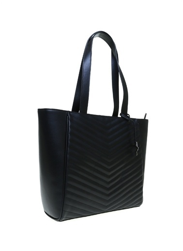 Fabrika Fabrika 44 X 31 X 11 Cm Suni Deri  Tokalı Kabartma Desenli Kadın Çanta Siyah